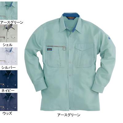 バートル 9023 長袖シャツ 中空ストレッチトロ ストレッチ 制電ケア設計 ポリエステル85%・綿15%