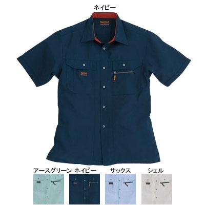 作業着 作業服 バートル BURTLE 7035 半袖シャツ S ネイビー3:作業服・空調服・防寒着キンショウ