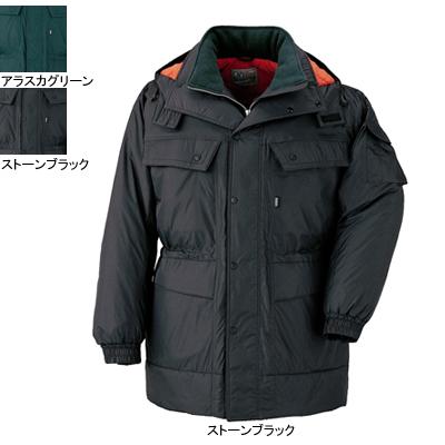 ジーベック 551 防寒コート [表]ナイロン100%(タフタ)、[裏]ポリエステル100%(トリコット起毛)、[中綿]ポリエステル100% 耐水圧1000mm 透湿性7000g 防風性