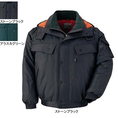 ジーベック 552 防寒ブルゾン [表]ナイロン100%(タフタ)、[裏]ポリエステル100%(トリコット起毛)、[中綿]ポリエステル100% 耐水圧1000mm 透湿性7000g 防風性