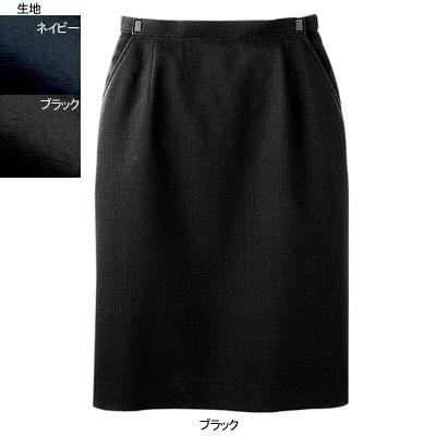 事務服・制服・オフィスウェア ヌーヴォ FS4055 Aラインスカート 21号・ブラック2
