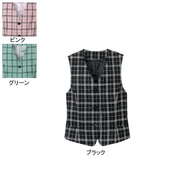 事務服・制服・オフィスウェア ヌーヴォ FV364E ベスト 15号・ブラック1