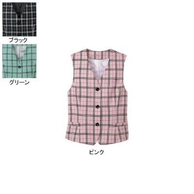 事務服・制服・オフィスウェア ヌーヴォ FV364E ベスト 23号・ピンク2