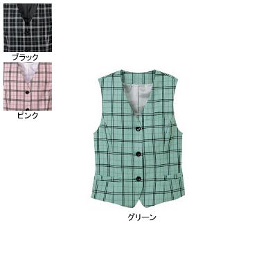 事務服・制服・オフィスウェア ヌーヴォ FV364E ベスト 17号・グリーン3