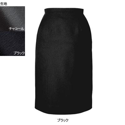 事務服・制服・オフィスウェア ヌーヴォ FS462E セミタイトスカート 23号・ブラック1