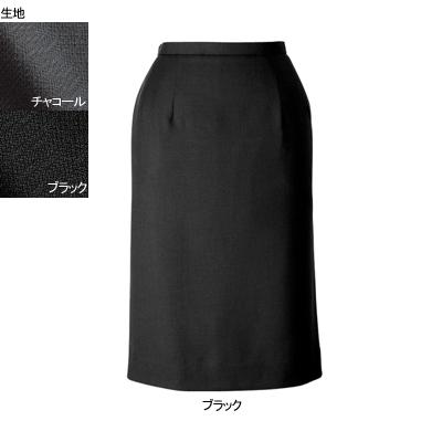 事務服・制服・オフィスウェア ヌーヴォ FS462EL セミタイトスカート 17号・ブラック1