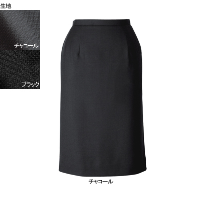 事務服・制服・オフィスウェア ヌーヴォ FS462EL セミタイトスカート 5号・チャコール2