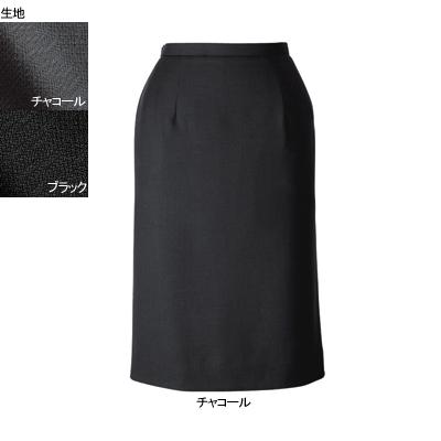 事務服・制服・オフィスウェア ヌーヴォ FS462EL セミタイトスカート 15号・チャコール2