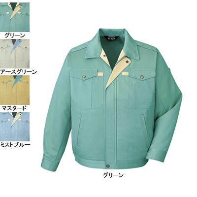 作業着 作業服 自重堂 430 ノンプルブルゾン 4L・グリーン012