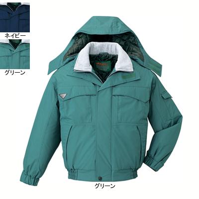作業着 作業服 防寒着 防寒服 自重堂 48260 エコ防水防寒ブルゾン(フード付) 4L・グリーン012