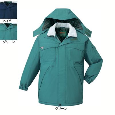 作業着 作業服 防寒着 防寒服 自重堂 48263 エコ防水防寒コート(フード付) L・グリーン012
