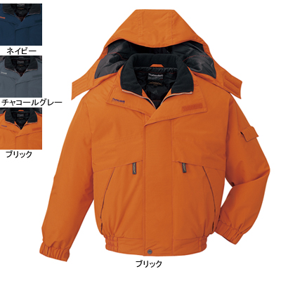 作業着 作業服 防寒着 防寒服 自重堂 48340 防水防寒ブルゾン(フード付) M・ブリック113