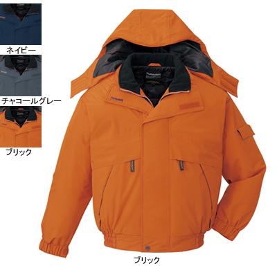 作業着 作業服 防寒着 防寒服 自重堂 48340 防水防寒ブルゾン(フード付) XL・ブリック113