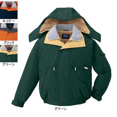 作業着 作業服 防寒着 防寒服 自重堂 48230 防水防寒ブルゾン(フード付) L・グリーン012
