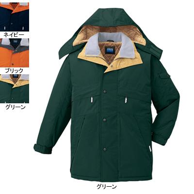 作業着 作業服 防寒着 防寒服 自重堂 48233 防水防寒コート(フード付) 5L・グリーン012