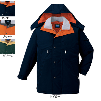 作業着 作業服 防寒着 防寒服 自重堂 48233 防水防寒コート(フード付) 5L・ネイビー011