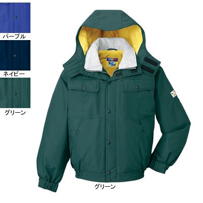 作業着 作業服 防寒着 防寒服 自重堂 28060 防水防寒ブルゾン(フード付) L・グリーン012