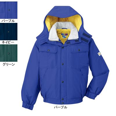 作業着 作業服 防寒着 防寒服 自重堂 28060 防水防寒ブルゾン(フード付) XL・パープル086