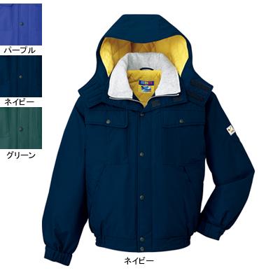 作業着 作業服 防寒着 防寒服 自重堂 28060 防水防寒ブルゾン(フード付) L・ネイビー011