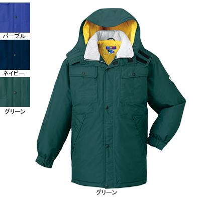 作業着 作業服 防寒着 防寒服 自重堂 28063 防水防寒コート(フード付) L・グリーン012