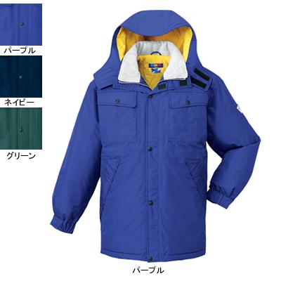 作業着 作業服 防寒着 防寒服 自重堂 28063 防水防寒コート(フード付) XL・パープル086
