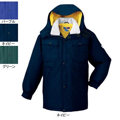 作業着 作業服 防寒着 防寒服 自重堂 28063 防水防寒コート(フード付) L・ネイビー011