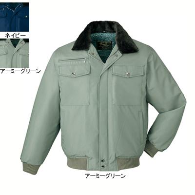 作業着 作業服 防寒着 防寒服 自重堂 9600 防寒ブルゾン(フード付) 5L・アーミーグリーン040