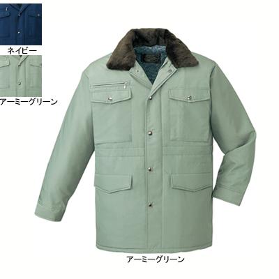 自重堂 9500 防寒コート(フード付) 交織タッサー(表地/ポリエステル75%・レーヨン25%、裏地/ポリエステルシープボア) 撥水加工
