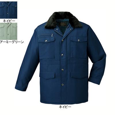 作業着 作業服 防寒着 防寒服 自重堂 9500 防寒コート(フード付) 5L・ネイビー011