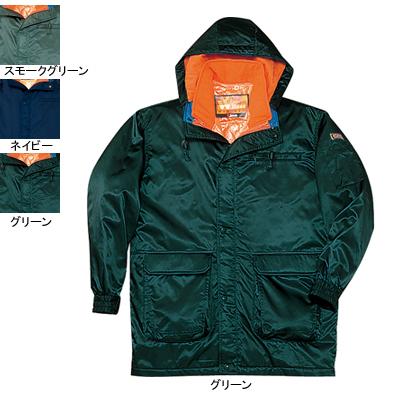 作業着 作業服 防寒着 防寒服 自重堂 48013 ダブルライナー防寒コート(フード付) LL・グリーン012