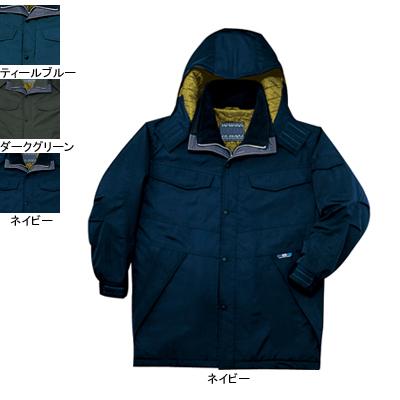 作業着 作業服 防寒着 防寒服 自重堂 48173 透湿撥水防寒コート(フード付) 5L・ネイビー011