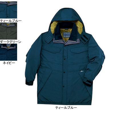 作業着 作業服 防寒着 防寒服 自重堂 48173 透湿撥水防寒コート(フード付) 4L・ティールブルー059