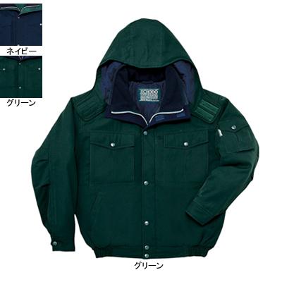作業着 作業服 防寒着 防寒服 自重堂 48120 防寒ブルゾン(フード付) 4L・グリーン012