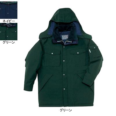 作業着 作業服 防寒着 防寒服 自重堂 48123 防寒コート(フード付) L・グリーン012