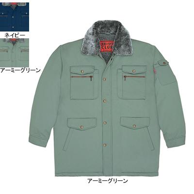 自重堂 48063 防寒コート(フード付) ツイル(表地/ポリエステル65%・綿35%、裏地/アクリルシープボア) ウイングアーム