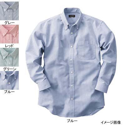 作業着 作業服 サンエス JB55016 男女兼用長袖シャツ(全4色) 4L・グリーン27
