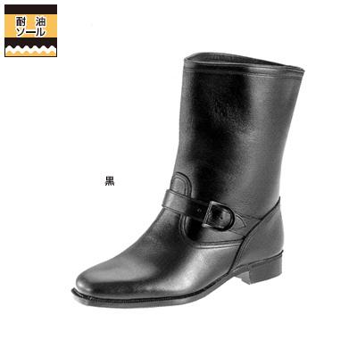 作業服 作業着 弘進商事 L9015AA 半長靴C-813 25.0cm・黒