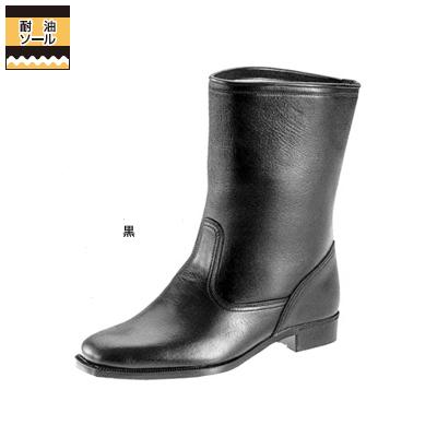 作業服 作業着 弘進商事 L9015AB 半長靴C-814 26.5cm・黒