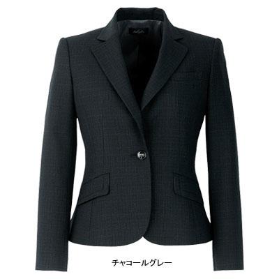 事務服・制服・オフィスウェア ピエ J0610-97 ジャケット 15号・チャコールグレー