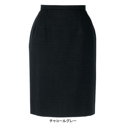 事務服・制服・オフィスウェア ピエ S0610-97 スカート(52cm丈) 7号・チャコールグレー