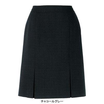 事務服・制服・オフィスウェア ピエ S0611-97 プリーツスカート(54cm丈) 15号・チャコールグレー