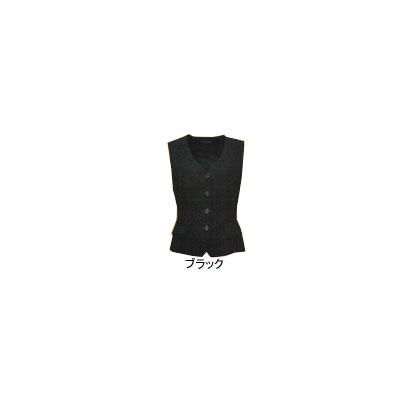 事務服・制服・オフィスウェア ピエ V3100-99 ベスト 13号・ブラック
