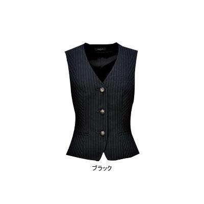 事務服・制服・オフィスウェア ピエ V9420-99 ベスト(3ツボタン) 13号・ブラック