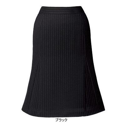 事務服・制服・オフィスウェア ピエ S9422-99 フレアースカート(57cm丈) 21号・ブラック