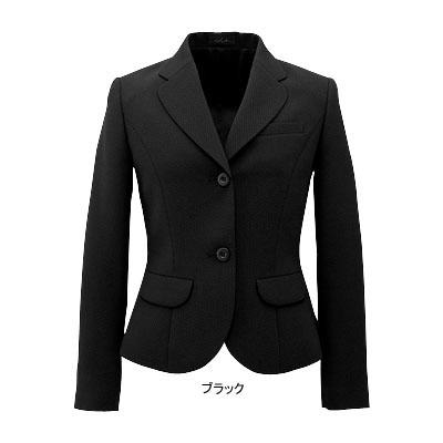 事務服・制服・オフィスウェア ピエ J9570-99 ジャケット(ピンクドット) 19号・ブラック