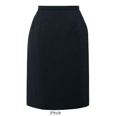 事務服・制服・オフィスウェア ピエ S9570-99 スカート(52cm丈・ピンクドット) 19号・ブラック