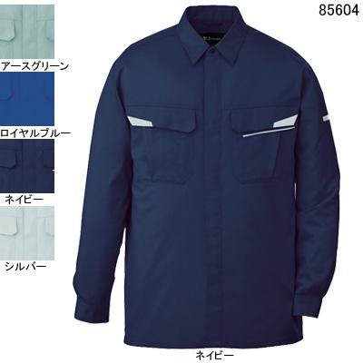 自重堂 85604 製品制電ストレッチ長袖シャツ ストレッチサマーツイル(ポリエステル65%・綿35%) ストレッチ 帯電防止JIS T8118適合商品