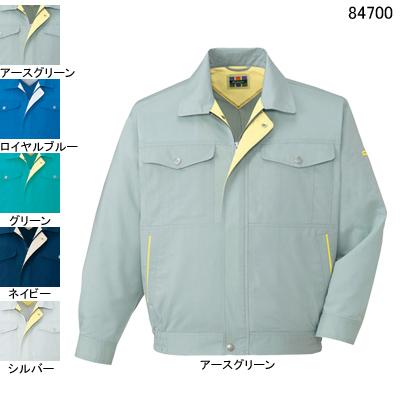 作業着 作業服 自重堂 84700 エコ吸汗・速乾長袖ブルゾン 4L・アースグリーン039