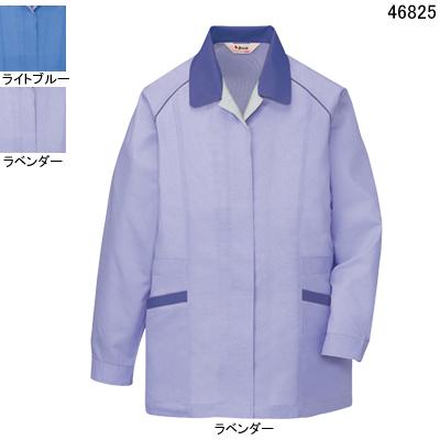 作業着 作業服 自重堂 46825 エコ製品制電長袖スモック 4L・ラベンダー083
