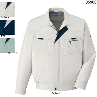 作業着 作業服 自重堂 85900 まるごとストレッチ長袖ブルゾン 4L・シルバー036